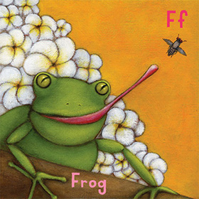 Animal alphabet book frog - click here for a larger image