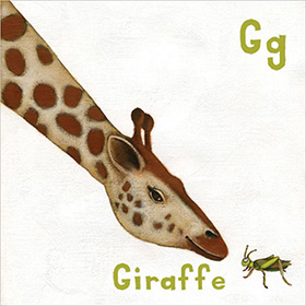 Animal alphabet book giraffe - click here for a larger image